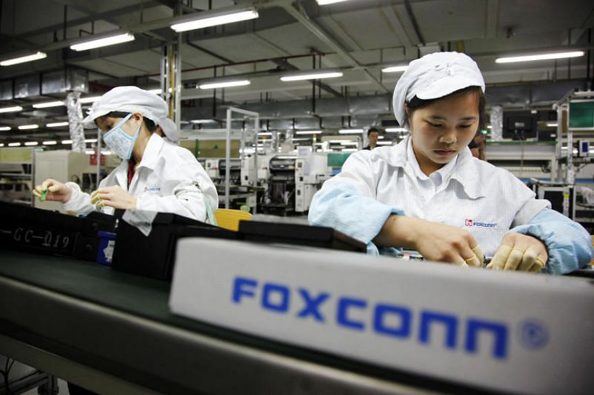 Foxconn, formally Hon Hai Precision Industry Co Ltd, makes electronic devices for global vendors including Apple.