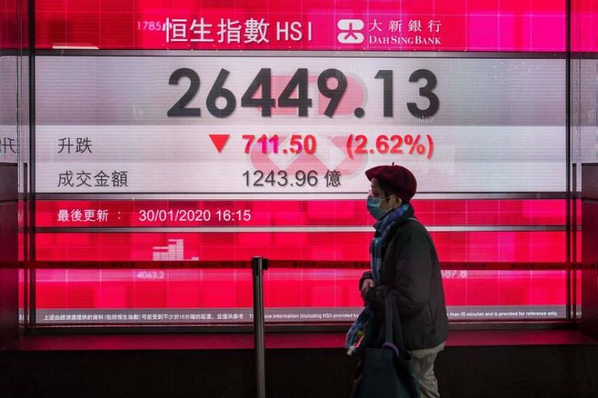 The slide in hotpot stock prices came after the South China Morning Post reported on Sunday that nine members of the same Hong Kong family contracted the corona virus after sharing a hotpot and barbecue meal at a restaurant.