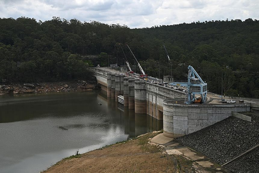 Dams across New South Wales state have been replenished by four days of heavy rainfall in Sydney and its surrounding areas. Warragamba Dam (above) saw its water level rise by 20 percentage points in one week.