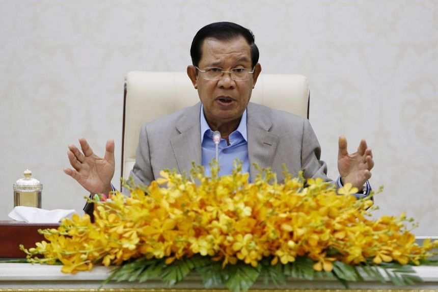 The European Union has threatened to suspend trade preferences over a crackdown on the opposition, NGOs and the media by Cambodian Prime Minister Hun Sen (above).