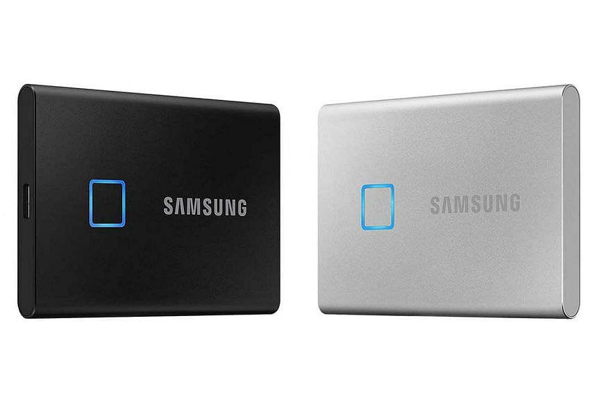 Samsung's latest portable solid-state drive comes with a fingerprint reader that unlocks the drive's contents within seconds.