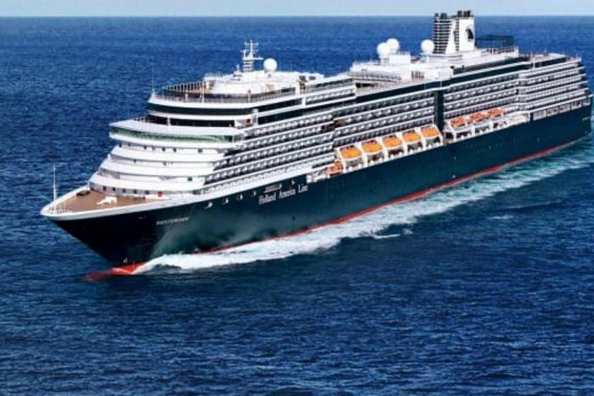 A file photo of Holland America's MS Westerdam cruise ship. The ship has already been turned away from several countries, including Japan and the Philippines, though it claims there are no cases of infection aboard.