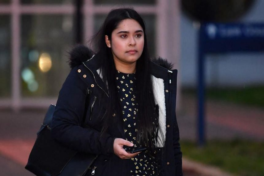 In a photo taken on Jan 6, 2020, Sneha Chowdhury leaves after appearing at the first day of her trial at Woolwich Crown Court in south-east London. Along with her brother Mohiussunnath Chowdhury, they are accused of plotting a mass casualty terror at