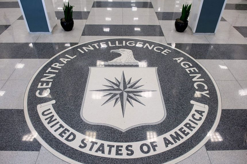 The CIA seal is displayed in the lobby of CIA Headquarters in Langley, Virginia.