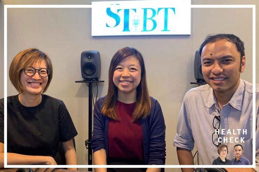 In our Health Check podcast: ST correspondent Joyce Teo (left) and podcasting head Ernest Luis (right) host Ms Alvernia Chua, a senior dietitian with National Healthcare Group Polyclinics, to clear the air about a popular weight loss approach called