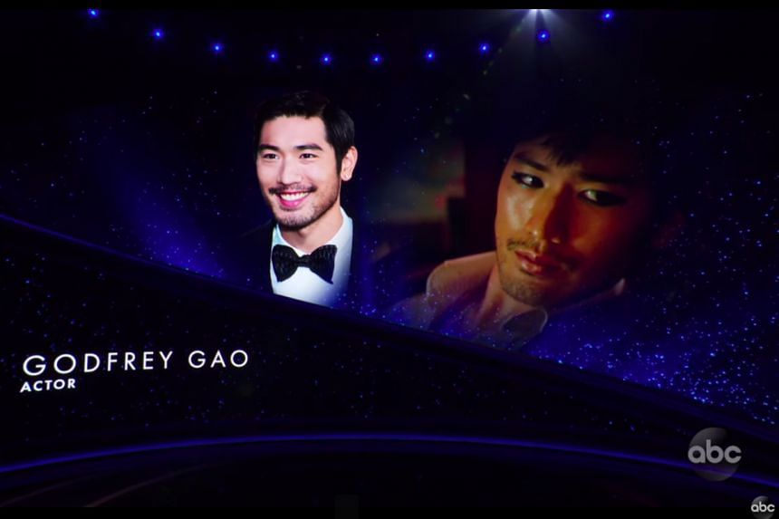 Godfrey Gao was among the luminaries honoured in an In Memoriam segment at the Oscars ceremony.