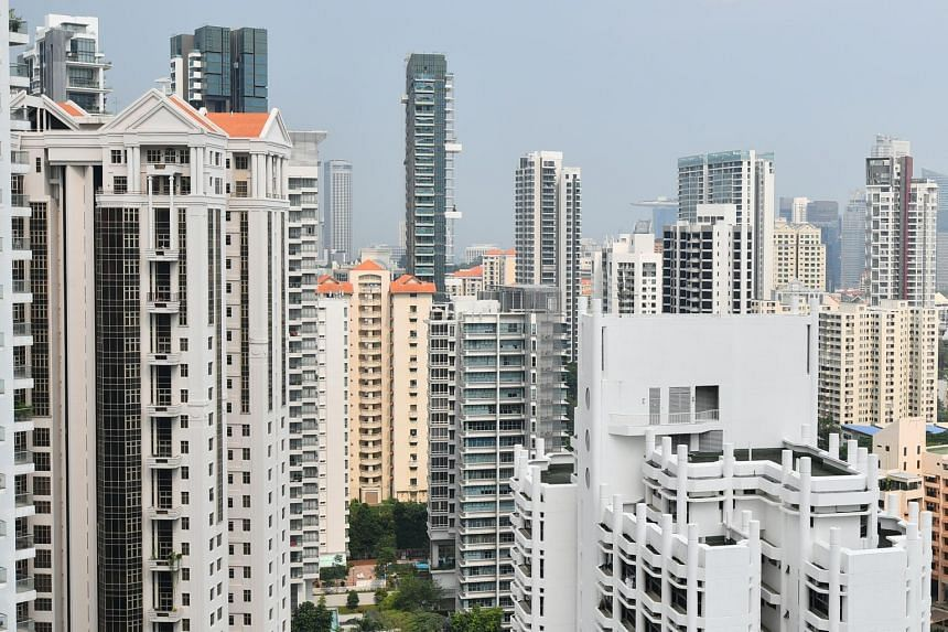 Private resale prices for condominiums and apartments edged up 0.5 per cent in January from December.