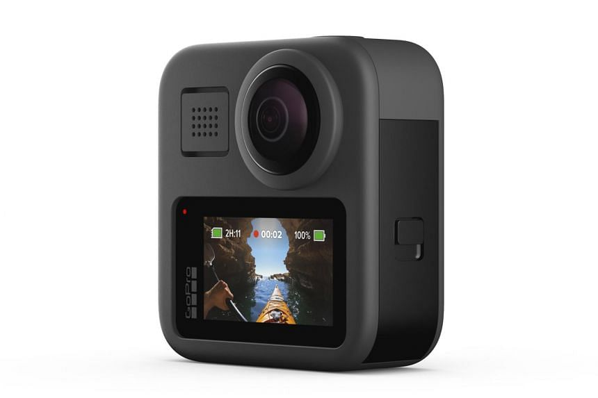 The GoPro Max has two 180-degree lenses and shoots 16.6-megapixel 360-degree photos and 5.6K 360-degree videos at 30 frames per second.