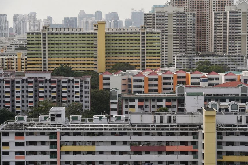 A view of HDB flats taken from Toa Payoh Lorong 8 on Jan 14, 2020.