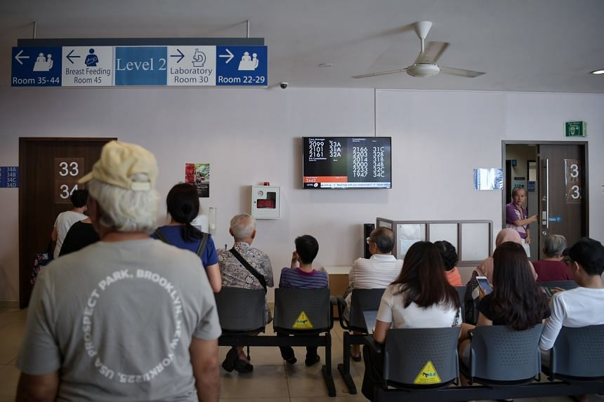 Patients at the Toa Payoh Polyclinic on Jan 14, 2020.