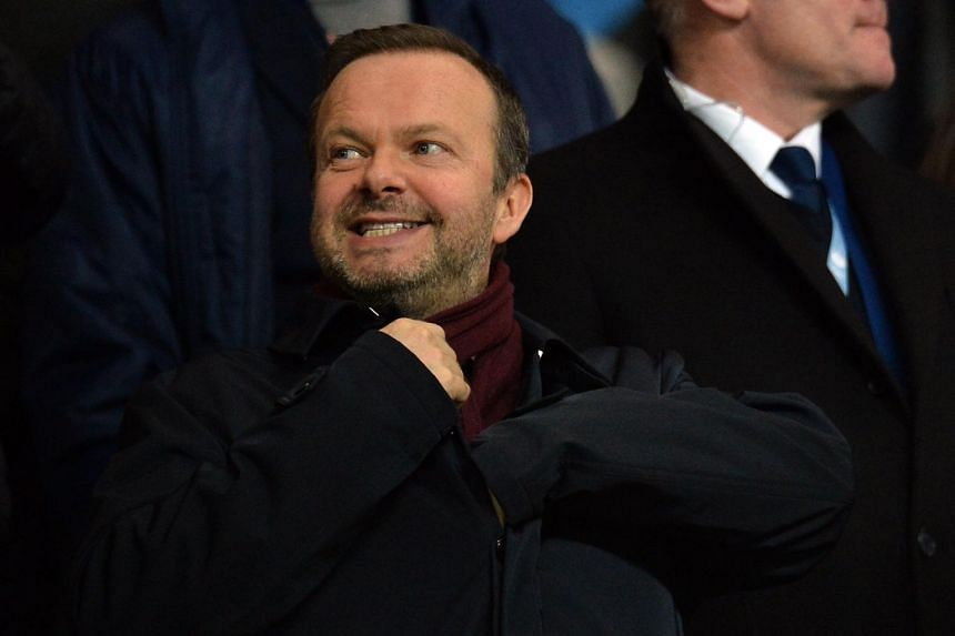 Chief executive of Manchester United Ed Woodward during the Carabao Cup semi-final match between Manchester City and Manchester United in Manchester, Britain, on Jan 29, 2020.