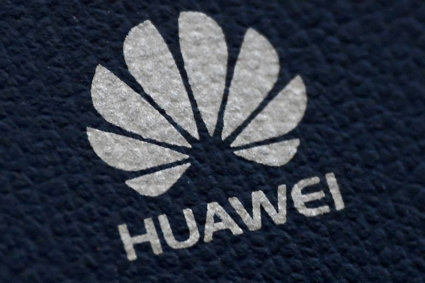 The Huawei logo is seen on a communications device in London, Britain on Jan 28, 2020.