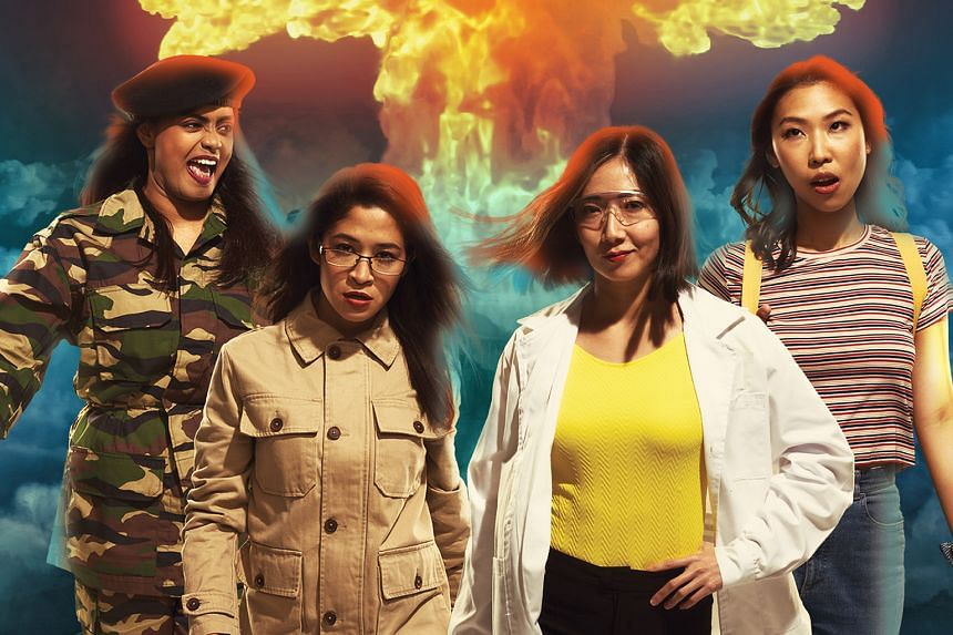 Checkpoint Theatre's The Nuclear Family (left), the much-awaited sequel to playwright Huzir Sulaiman's Atomic Jaya (1998), has been postponed from March this year to March next year. At a rehearsal for Dreamtalk, which was planned to be shown as part
