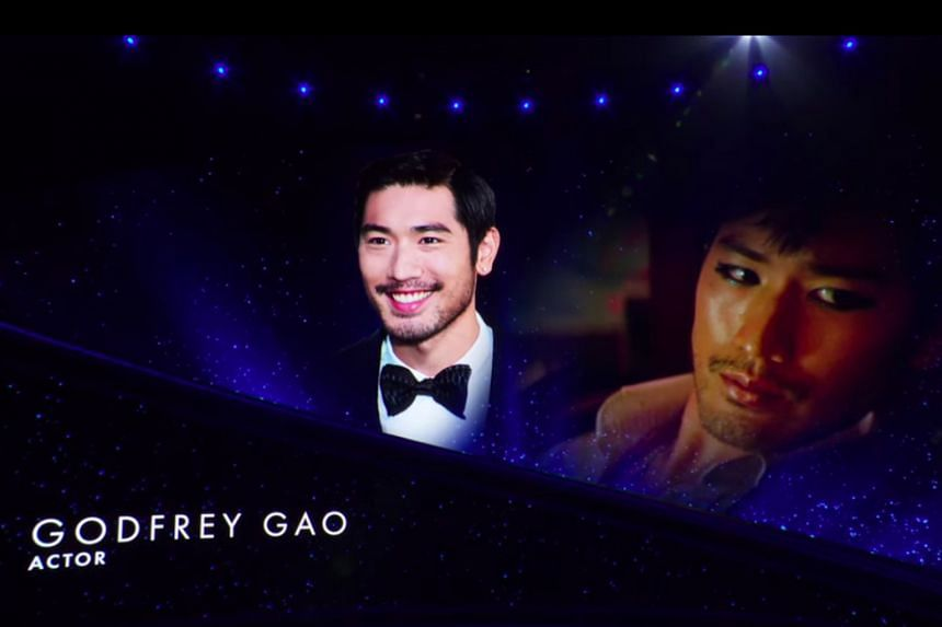 Model-actor Godfrey Gao was among the luminaries honoured in an In Memoriam segment (above) at the Oscars on Sunday.