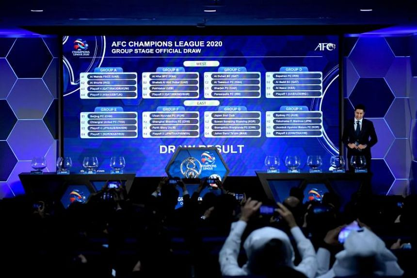 The draw for the playoff and group stages of the AFC Champions League, at the AFC headquarters in Kuala Lumpur on Dec 10 2019.