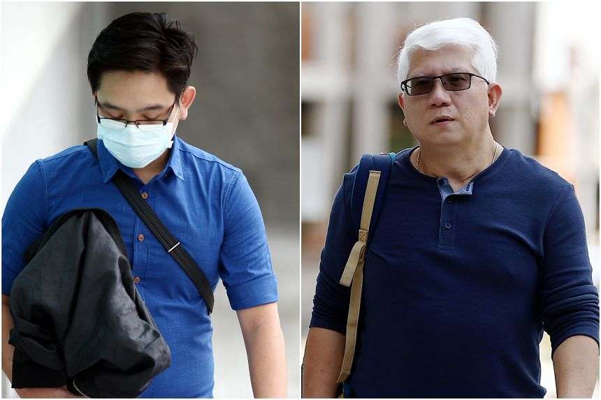Ryan Xavier Tay Seet Choong (left) and Lawrence Lim Peck Beng (right) are on trial for allegedly assailing Mr Shawn Ignatius Rodrigues at Block 279 Yishun Street 22 on July 9, 2016.