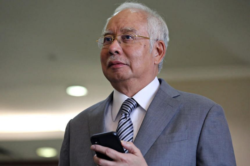 Former Malaysian Prime Minister Najib Razak is seen during a break at Kuala Lumpur High Court on Feb 5, 2020.