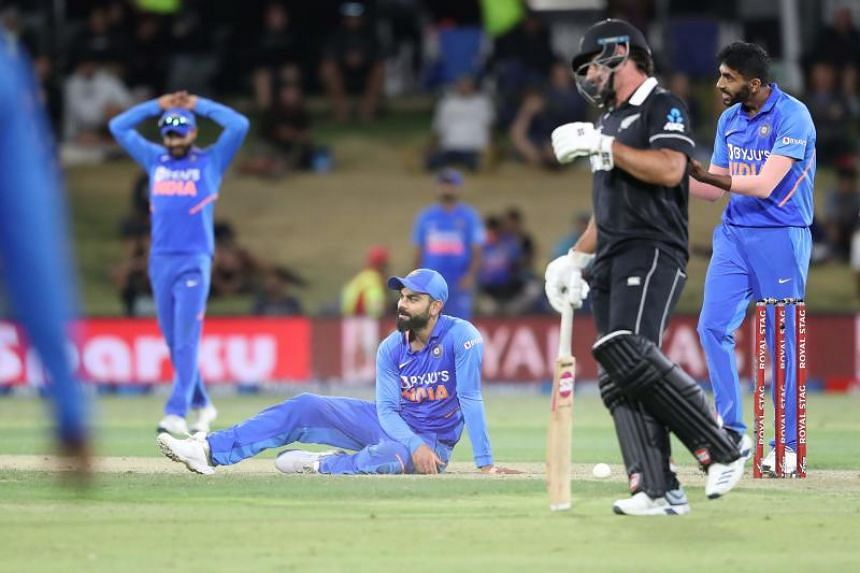 India's Virat Kohli at the third one-day international cricket match between New Zealand and India in Mount Maunganui, New Zealand, on Feb 11, 2020.