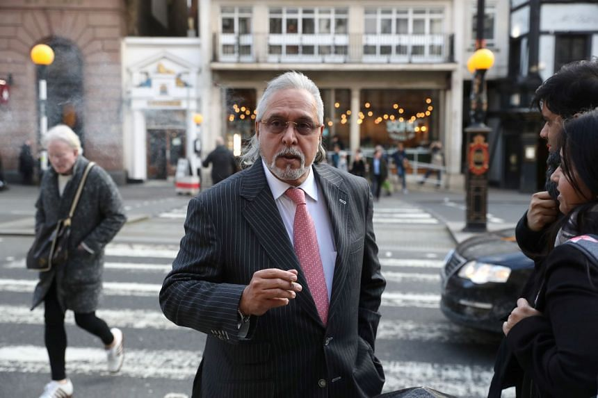 Vijay Mallya is seen outside the Royal Courts of Justice in London, Britain, Feb 11, 2020.