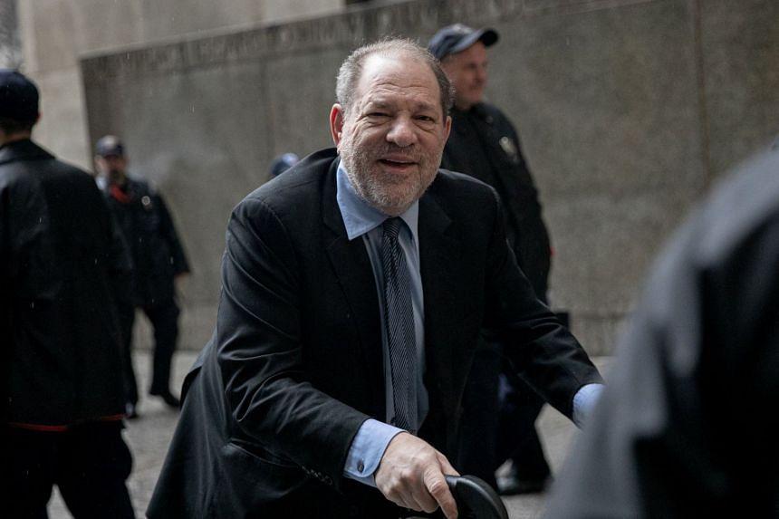 Weinstein arrives at court in New York City, Feb 11, 2020.