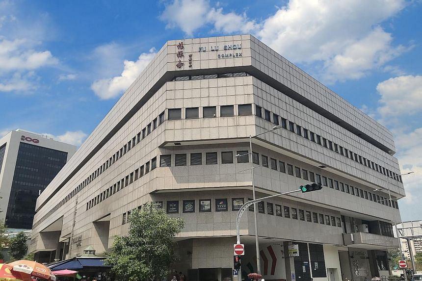 The three strata office units have a total floor area of about 5,140 sq ft and are on level five of the six-storey Fu Lu Shou Complex. The building sits on a corner plot with dual frontages on Rocher Road and Waterloo Street.