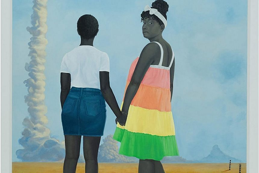 This year, the Baltimore Museum of Art will buy only works by female artists. American painter Amy Sherald's Planes, Rockets, And The Spaces In Between (2018) is among the 3,800 works by women in the museum's collection.