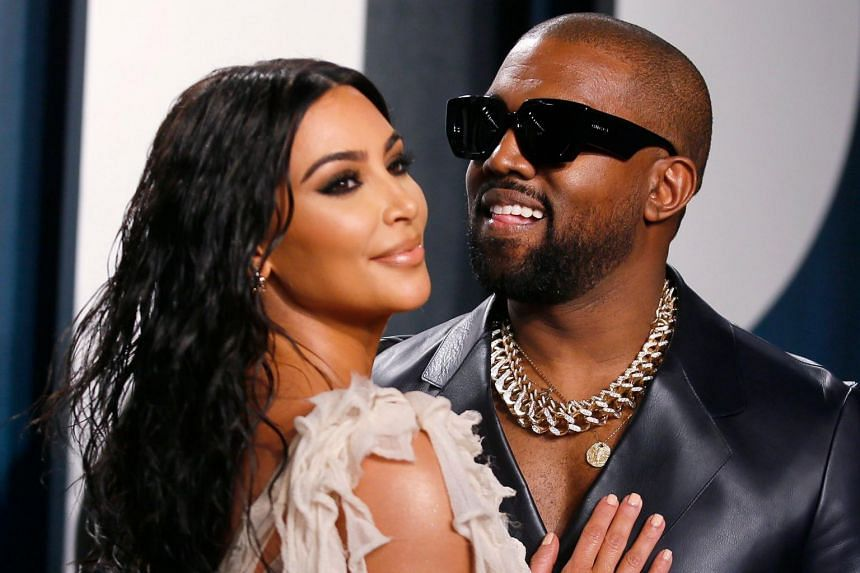 Kim Kardashian and Kanye West attend the Vanity Fair Oscar party during the 92nd Academy Awards in Los Angeles on Feb 9, 2020.