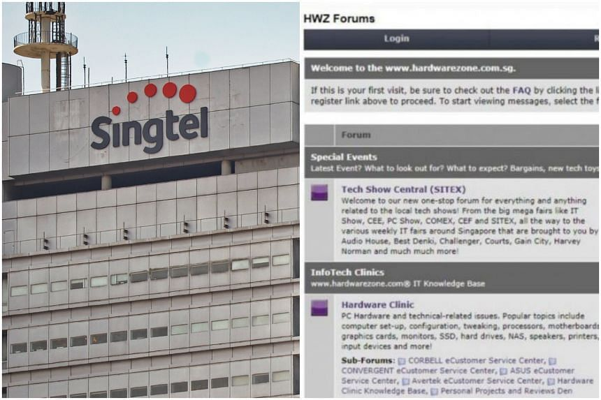 Singtel (left) and SPH Magazines, which operates, hosts and maintains HardwareZone forum site, were among the latest seven organisations which have flouted the data protection law.