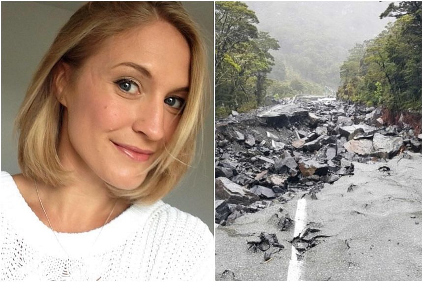 British backpacker Stephanie Simpson (left) has not been seen since she went for a hike in the South Island of New Zealand, which was hit with floods last week.