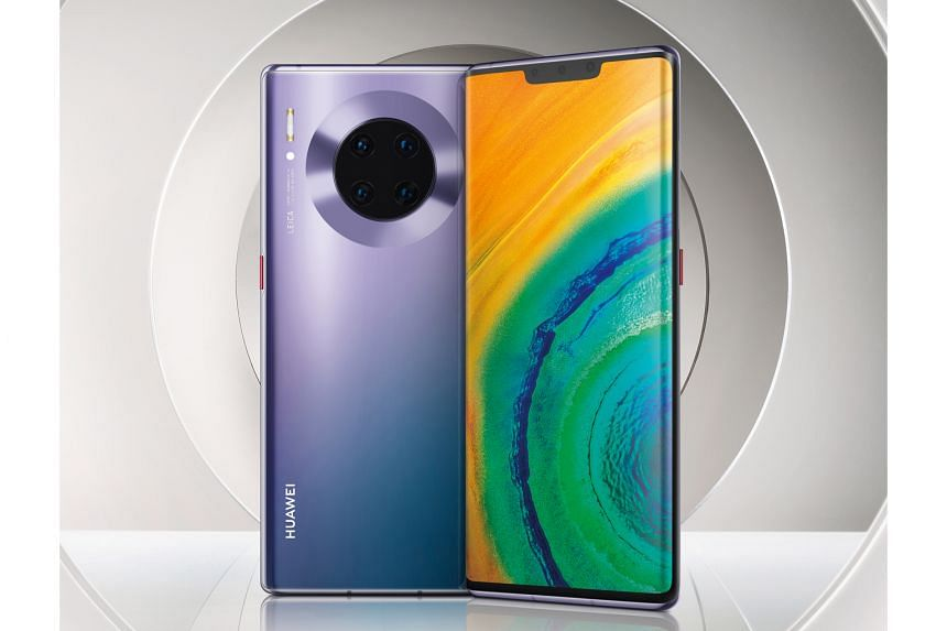 (Above) Huawei's Phone Clone app allows you to clone your existing Android smartphone to the Mate 30 series smartphone. (Right) The Huawei Mate 30 Pro.