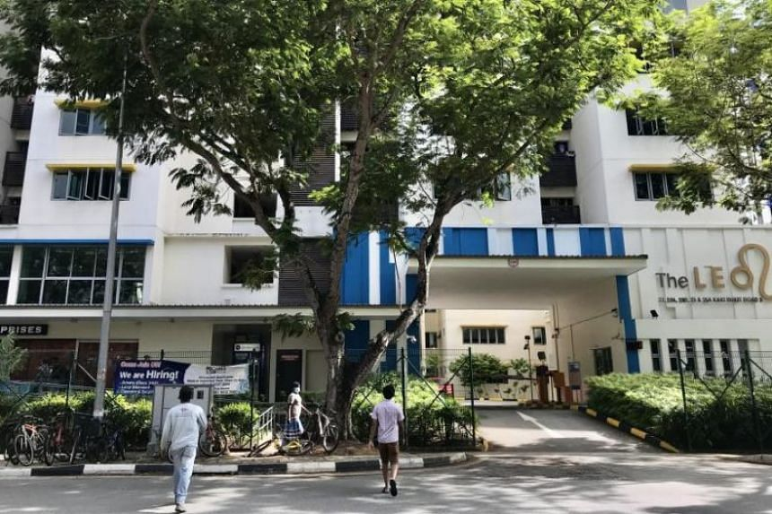 The first Bangladeshi worker, 39, who stayed at The Leo Dormitory in Kaki Bukit (above), tested positive for the virus on Feb 8, 2020.