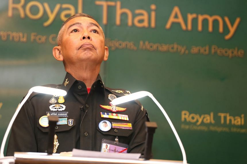 General Apirat Kongsompong, Commander in Chief of the Royal Thai Army, attends a press conference following the recent shooting at shopping mall in Nakhon Ratchasima, Thailand, at the Thai army headquarters in Bangkok on Feb 11, 2020.
