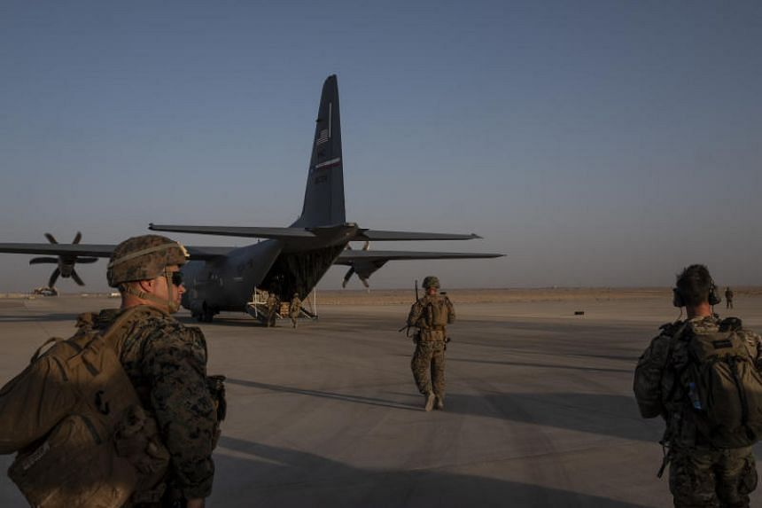 US military personnel at Camp Shorabak in Afghanistan on Sept 26, 2019. US President Donald Trump has conditionally approved a peace deal with the Taleban that would withdraw the last American troops from the country.