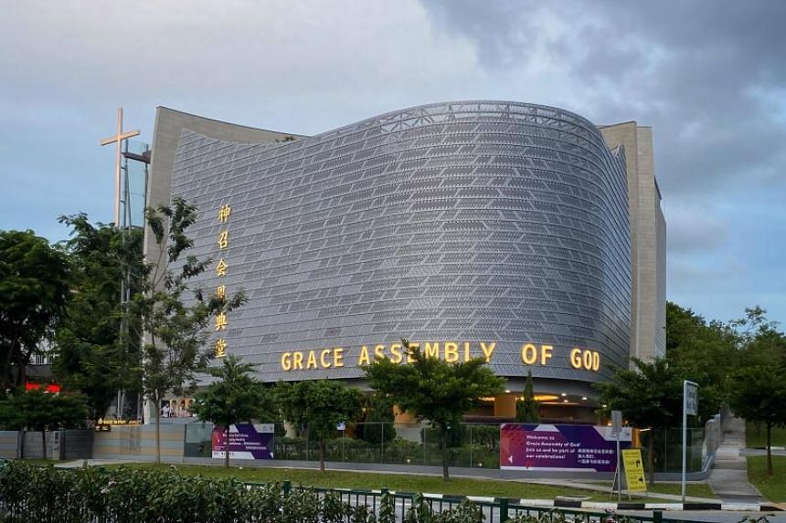 One patient works at the DBS bank at Marina Bay Financial Centre, while the other two went to Grace Assembly of God church's sites in Tanglin (above) and Bukit Batok.