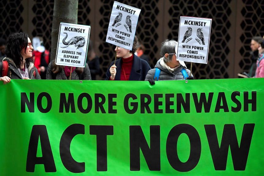 Extinction Rebellion climate change activists demonstrate in London on Jan 31, 2020.