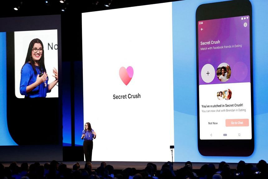 A 2019 photo shows Facebook's Fidji Simo talking about the Facebook Dating app in San Jose, California.