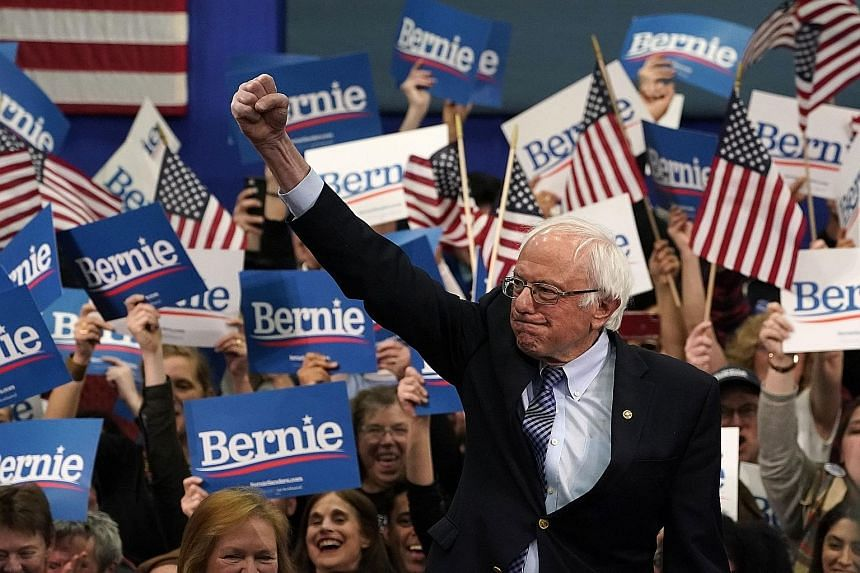 Senator Bernie Sanders, winner of the New Hampshire primary, at a primary-night event in the state on Tuesday.
