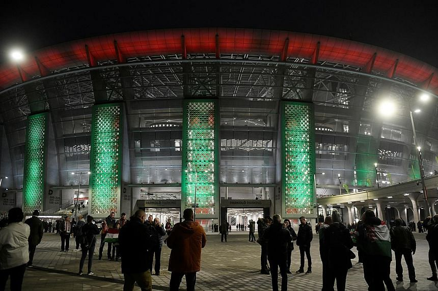 """Budapest's Puskas Arena, home of the Hungarian national team, will be the only new stadium built for Euro 2020. Uefa says this has spared """"a huge environmental cost in energy, concrete and other resources"""". PHOTO: REUTERS"""