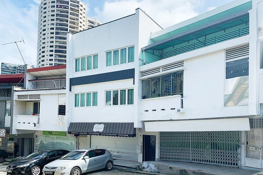 JASMINE ROAD The three shophouses at 7, 9 and 11 Jasmine Road are surrounded by a landed housing estate and are near the upcoming Upper Thomson MRT station on the Thomson-East Coast Line and Marymount station on the Circle Line. NEIL ROAD The adjoini
