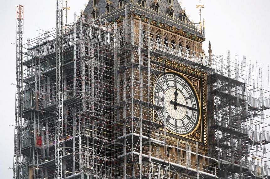 The 177-year-old  Elizabeth Tower, housing the Big Ben bell, has been swathed in scaffolding for the past three years as craftsmen refurbish its stonework and famous 12 tonne clock.