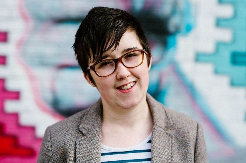 A 2017 photo shows 2017 journalist and author Lyra McKee posing for a photograph in Belfast.
