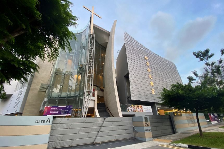 The Grace Assembly of God church's premises in Tanglin. Five of the eight new coronavirus cases in Singapore are linked to the church.