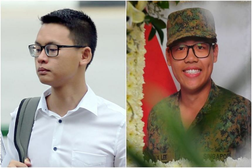 SAF captain Tan Baoshu (left), who was charged over his role in the death of full-time national serviceman Dave Lee in 2018, had been diagnosed with Stage 4 cancer.