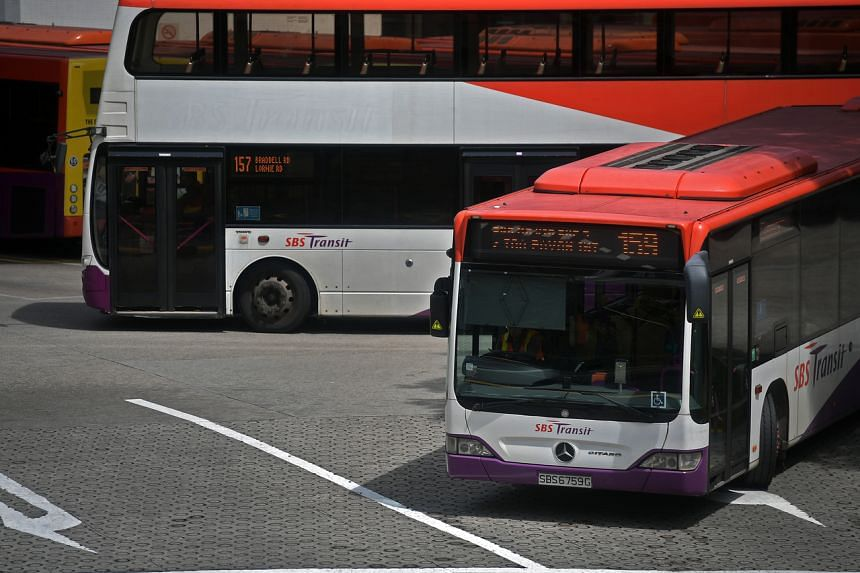 SBS Transit buses at the Toa Payoh bus interchange on Dec 12, 2019.