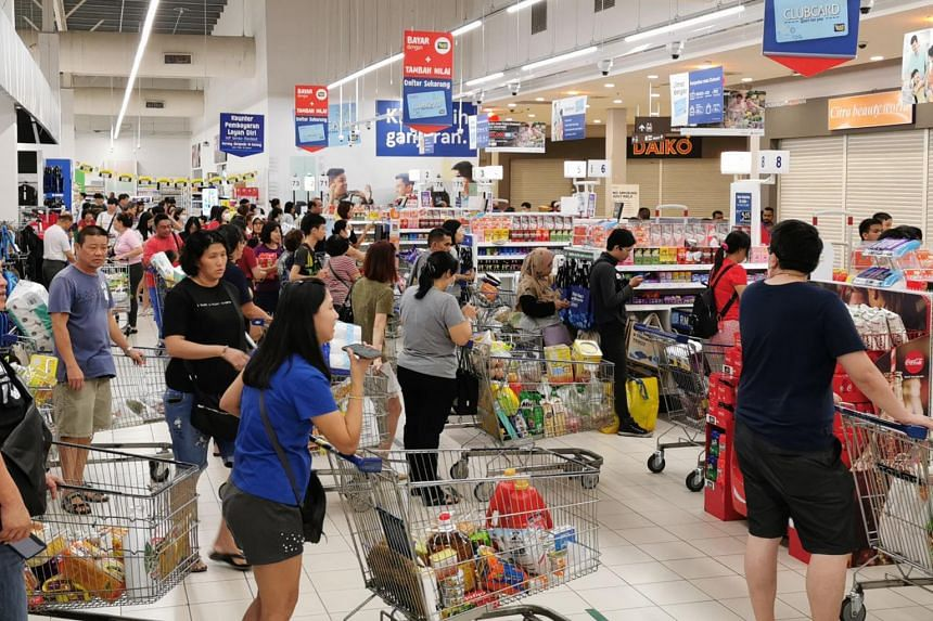Despite reports of panic buying in Singapore, several retail outlets in Johor showed no indication of any panic buying.