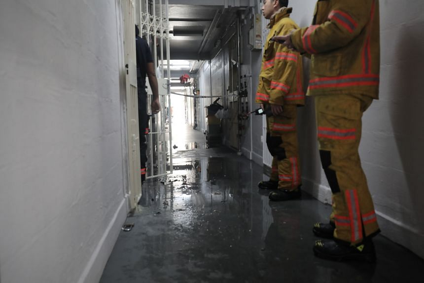 The Singapore Civil Defence Force were alerted to the fire at Block 123, Ang Mo Kio Avenue 6 at 8.10am on Feb 13, 2020.