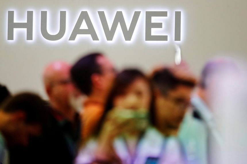 A photo taken on Sept 6, 2019, shows the Huawei logo at the IFA consumer tech fair in Berlin.