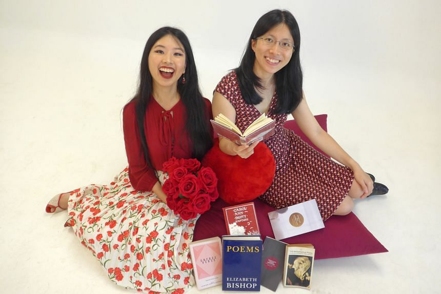 The Straits Times Life journalists Olivia Ho (left) and Toh Wen Li discuss love poetry in their podcast Bookmark This! Ep 13.