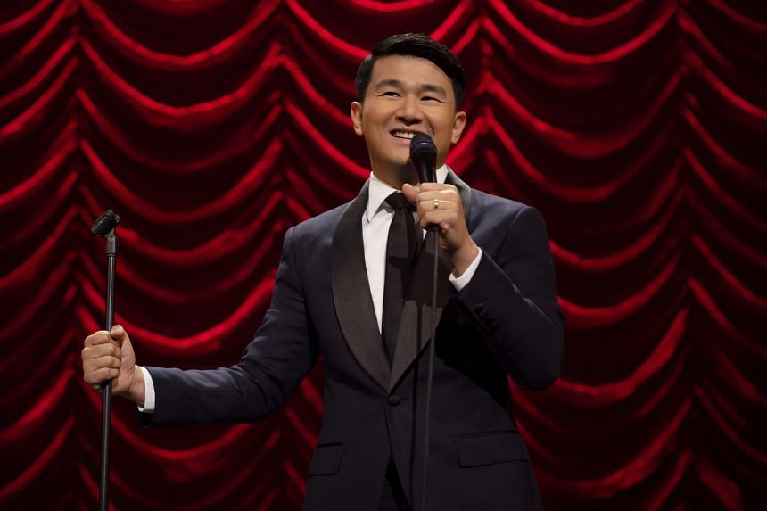 (Above) Ronny Chieng in Asian Comedian Destroys America!. (Left) The eight-part anthology Little America dramatises immigrant stories and includes one about a teenage girl, who is jaded about her future as an undocumented Mexican immigrant, but disco