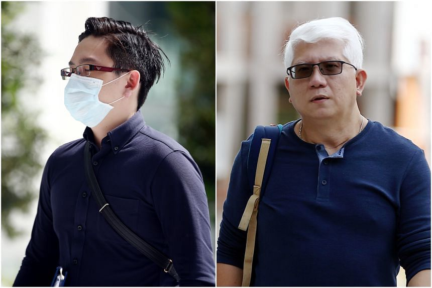 Ryan Xavier Tay Seet Choong (left) and Lawrence Lim Peck Beng are on trial for allegedly assailing Mr Shawn Ignatius Rodrigues at Block 279 Yishun Street 22 on July 9, 2016.